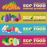 Eco food banners set (+ EPS 10) Royalty Free Stock Photo