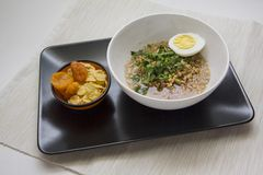Eco food on black plate Stock Photo