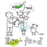 Eco food,  drawing Royalty Free Stock Photography