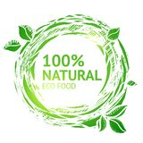 Eco food grunge label Royalty Free Stock Images
