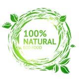 Eco food grunge label Stock Photography