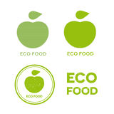 Eco food icons Stock Images