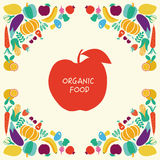 Eco Food icons set Vegetables and fruits Royalty Free Stock Images