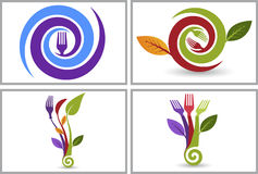 Eco food logo collection Royalty Free Stock Images
