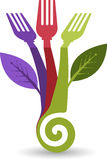Eco food logo royalty free illustration
