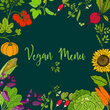 Eco food menu Stock Photo