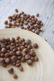 Eco food: nuts Royalty Free Stock Images
