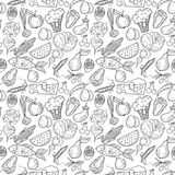 Eco food pattern Stock Photo