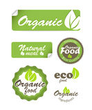 Eco food stickers Royalty Free Stock Photography
