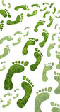 Eco footprint. Measuring the ecological footprint or impact on the environment Stock Photography