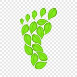 Eco footprint icon, cartoon style. Eco footprint icon in cartoon style isolated on background for any web design royalty free illustration