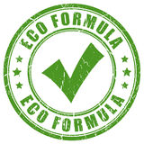 Eco formula green rubber stamp Royalty Free Stock Images