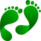 Eco fotspår royaltyfri illustrationer