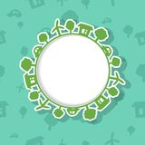 Eco Frame on Seamless Background Stock Photo
