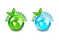 Eco freundliche Taste Lizenzfreie Stockbilder