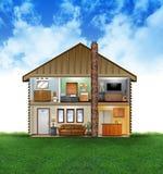 Eco freundlicher Haus-Innenraum Stockbild