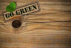 Eco freundlicher Hintergrund - gehen Grün Lizenzfreies Stockbild