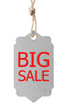 Eco freundlicher Kennsatz Großer Verkauf, lokalisiert auf weißem Hintergrund Lizenzfreie Stockbilder