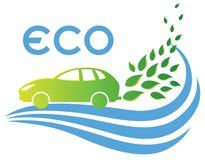 Eco freundliches Auto lizenzfreie abbildung