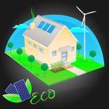 Eco freundliches Haus stock abbildung