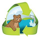 Eco freundliches Tourismus-Zeichen Stockfotos