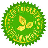 Eco friendly. Sign isolated over white Royalty Free Stock Photography