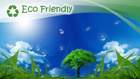 Eco Friendly. Eco background for your design Royalty Free Stock Image
