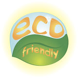Eco friendly. Isolated natural eco icon in the shape of leaf and water drop Stock Photo