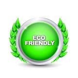 Eco friendly_3. Eco friendly 3d effect button stock illustration