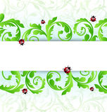 Eco friendly background with ladybugs Royalty Free Stock Photos