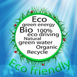 Eco friendly background with messages Stock Images