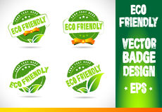 Eco friendly Badge Vector Royalty Free Stock Photography
