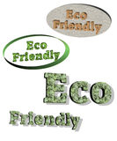 Eco Friendly Banners Vector Royalty Free Stock Photos