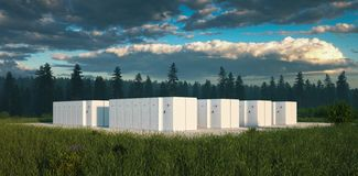 Free Eco Friendly Battery Energy Storage System In Nature. Royalty Free Stock Images - 160098969