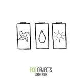 Eco friendly battery. Royalty Free Stock Photo