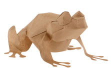 Eco Friendly Brown Paper Frog Stock Images