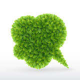 Eco Friendly Bubble for speech, Stock Photo