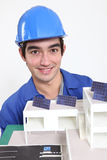 Eco-friendly building model Stock Photography