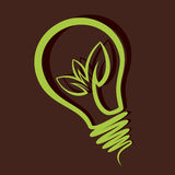 Eco-friendly bulb. Stock Stock Image