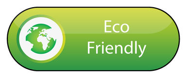 Eco Friendly Button Stock Photo