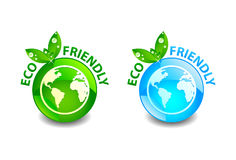 Eco Friendly Button Royalty Free Stock Images