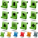Eco friendly buttons - scroll Royalty Free Stock Image
