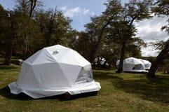 Eco-friendly camp in Tierra del Fuego Royalty Free Stock Photography