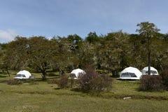 Eco-friendly camp in Tierra del Fuego Royalty Free Stock Photo