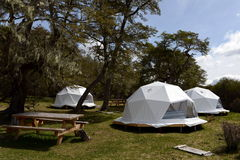 Eco-friendly camp in Tierra del Fuego stock photo