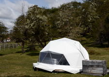 Eco-friendly camp in Tierra del Fuego. Royalty Free Stock Images