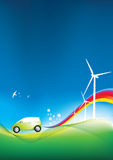 Eco friendly car. Illustration of an environmentally freindly green car Royalty Free Stock Photography