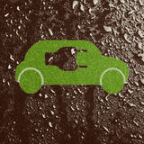 Eco-friendly car. Isolated on wet background Stock Photography