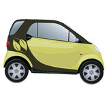 Eco-friendly Car. An environmental friendly care -   isolated Stock Images