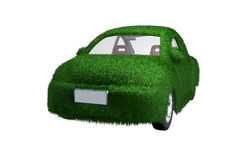 Eco-friendly car front view. Eco-friendly car with clipping path, alpha channel available upon request Royalty Free Stock Photography